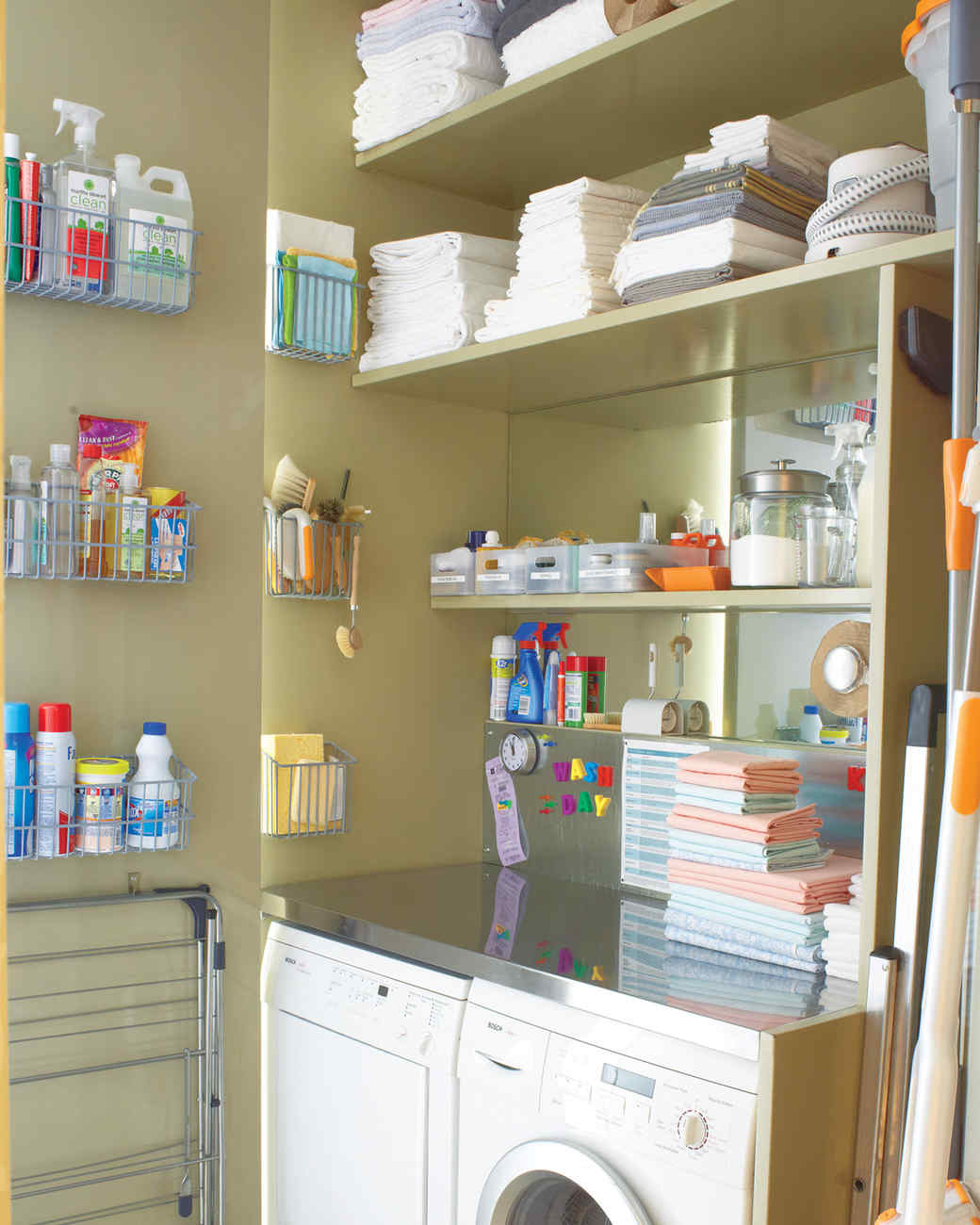 12 Essential Laundry Room Organizing Tips   Martha Stewart on Small Laundry Room Organization Ideas  id=85104