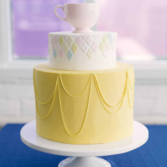 Grey Shower Baby Yellow Cake And