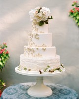 50 Beautiful Wedding Cakes That Are  Almost   Too Pretty to Eat     white wedding cake