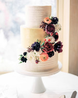 Fall Wedding Cakes wedding cake with gold tier