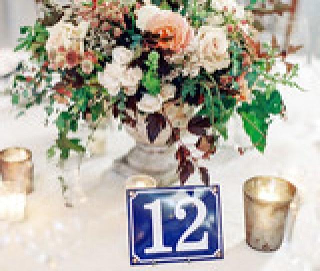 Julianne Aaron Wedding Table Number Centerpiece
