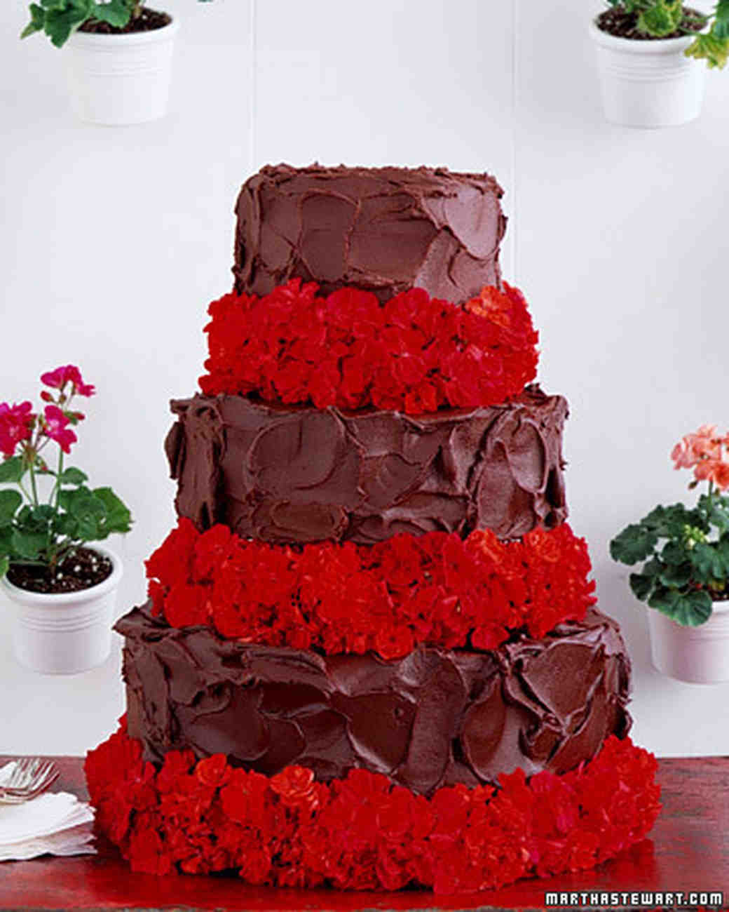 Chocolate Cakes  Devil s Food Cake Recipe   Martha Stewart Weddings