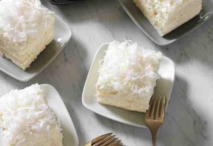Vanilla Coconut Sheet Cake