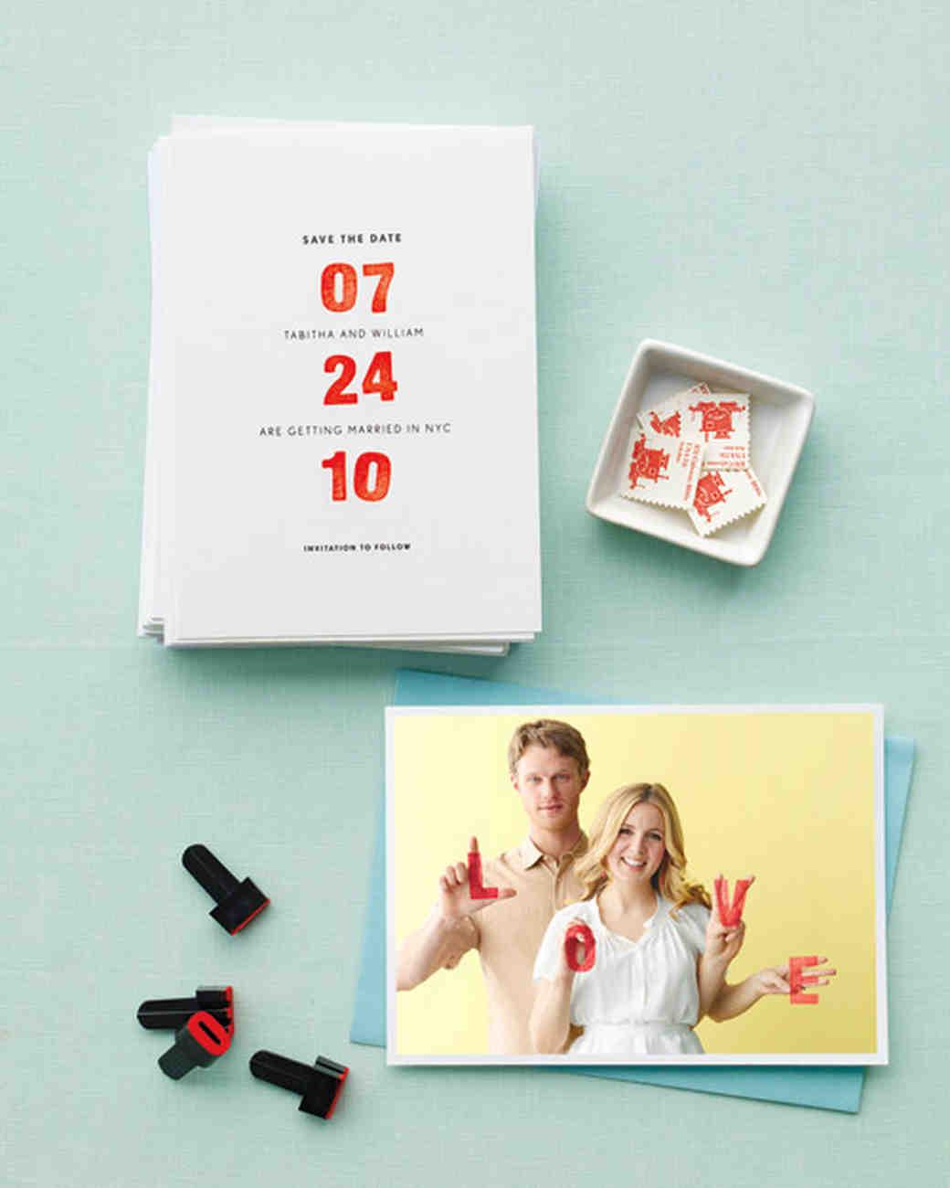 Custom Wedding Save Dates
