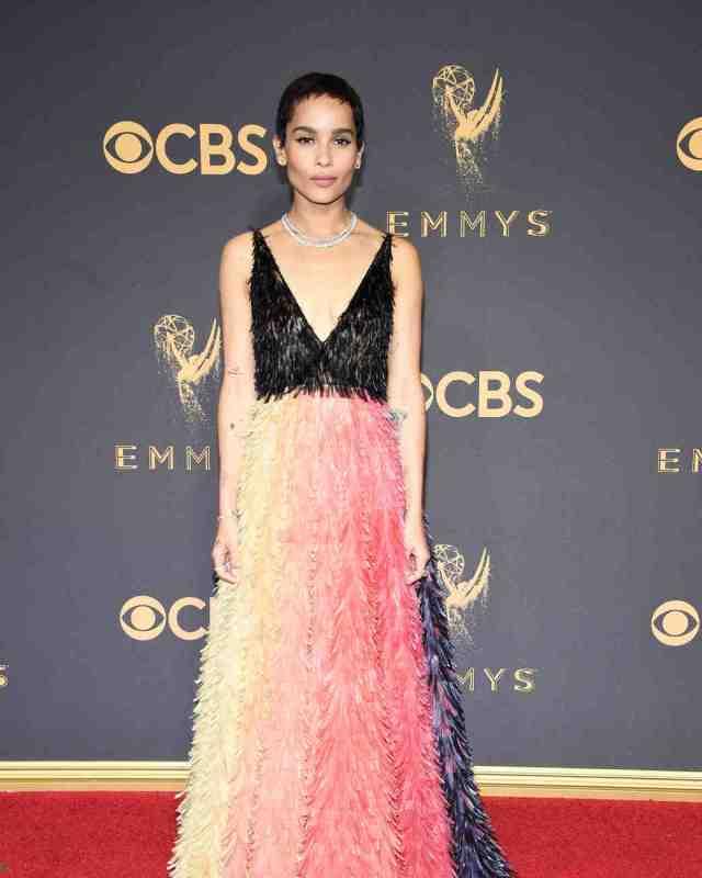Zoe Kravitz Emmys Red Carpet 2017