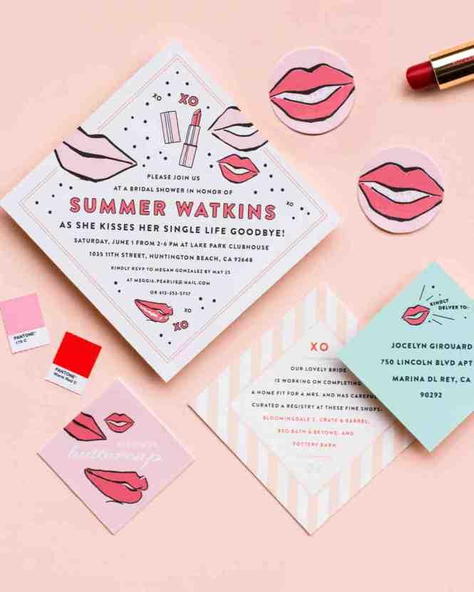 Image Led Address Bridal Shower Envelopes Step 2