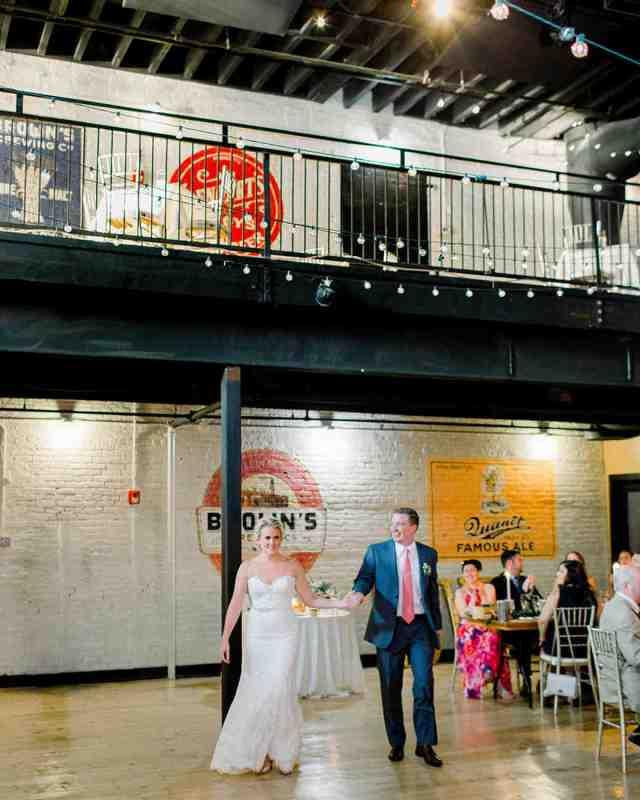 brewery wedding venues couple entrance