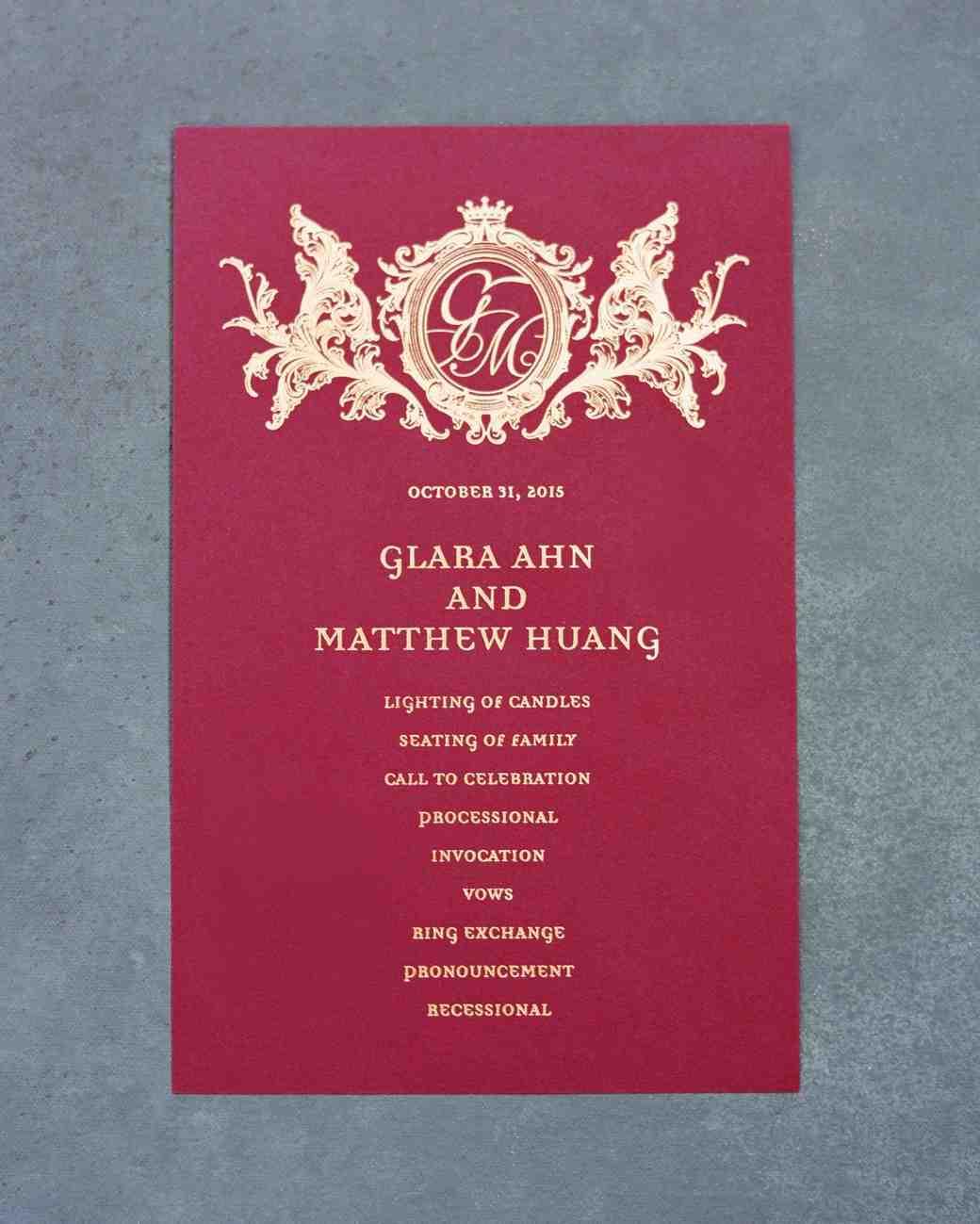Martha Stewart Confetti Wedding Invitation