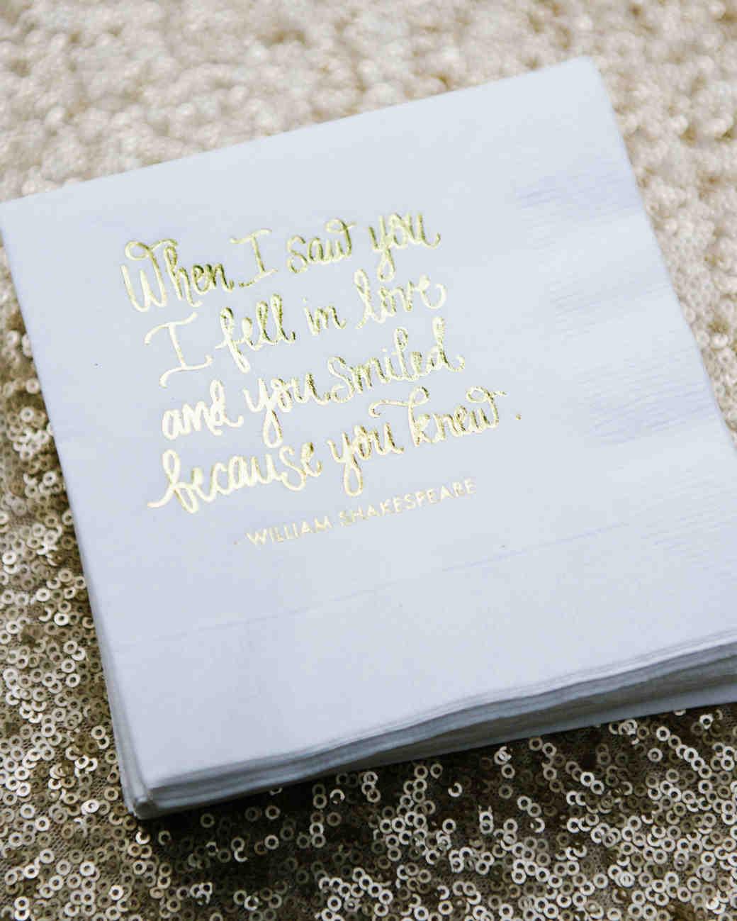 Martha Stewart Wedding Napkins