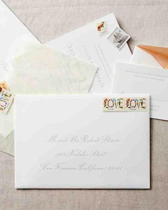 Calligraphed Wedding Invitation Envelopes