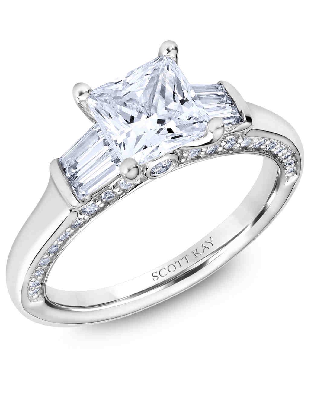 Princess Cut Diamond Engagement Rings Martha Stewart