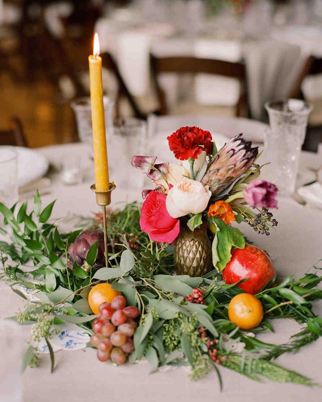 Fall Wedding Reception Centerpieces