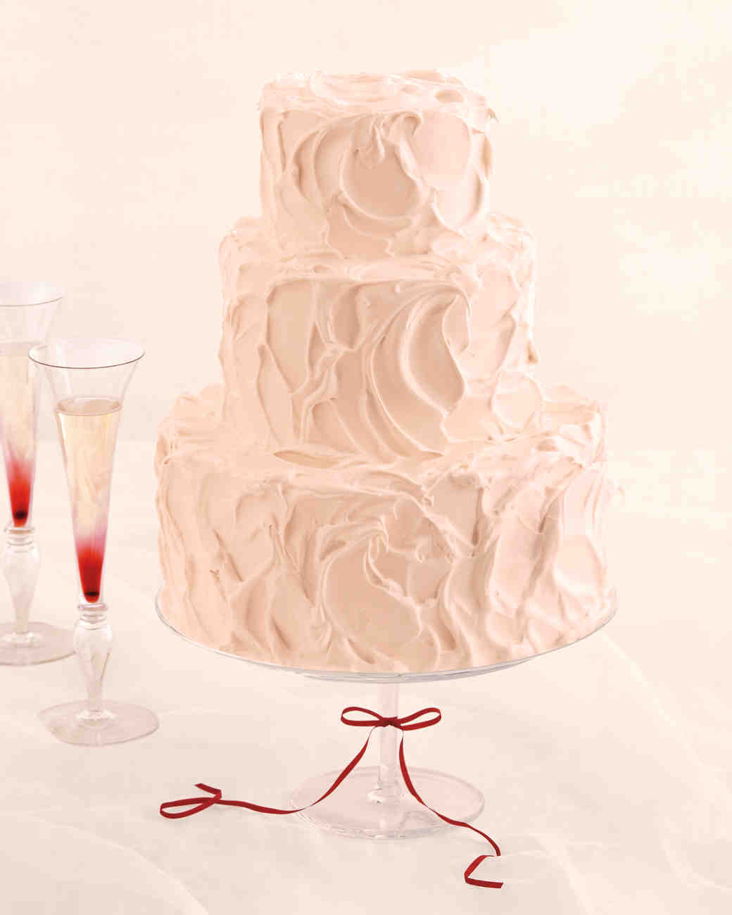 Champagne Cake With Black Currant Swiss Meringue