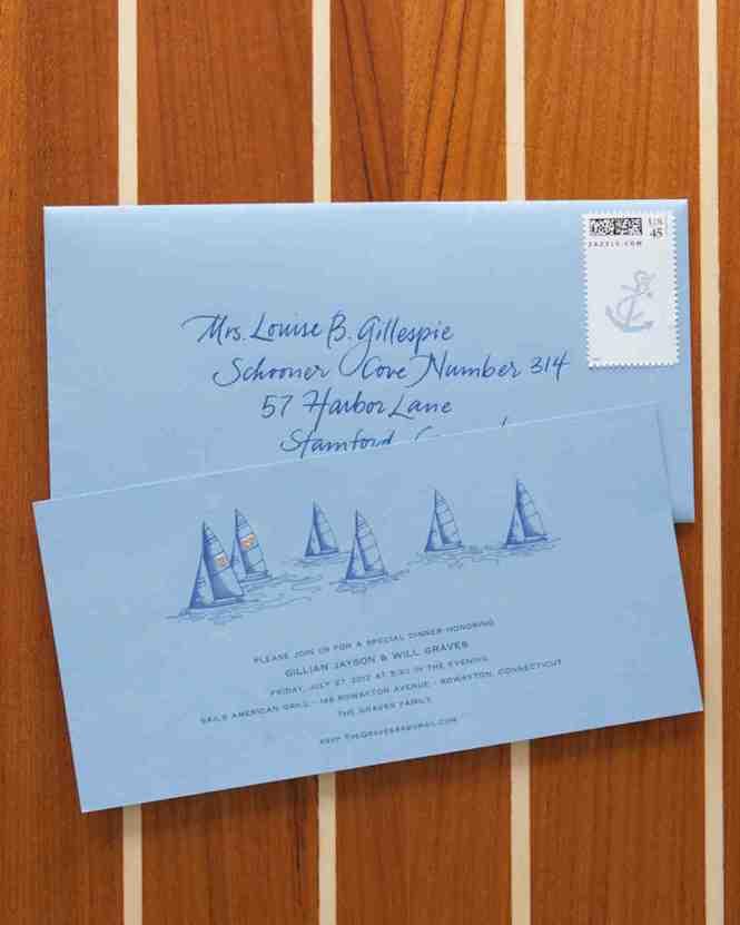 Sailing Or Nautical Themed Wedding Invitations From Lemon Leaf Prints