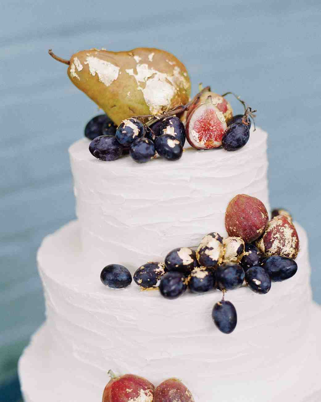 42 Fruit Wedding Cakes That Are Full of Color  and Flavor     Martha     Gilded Fruit Wedding Cake