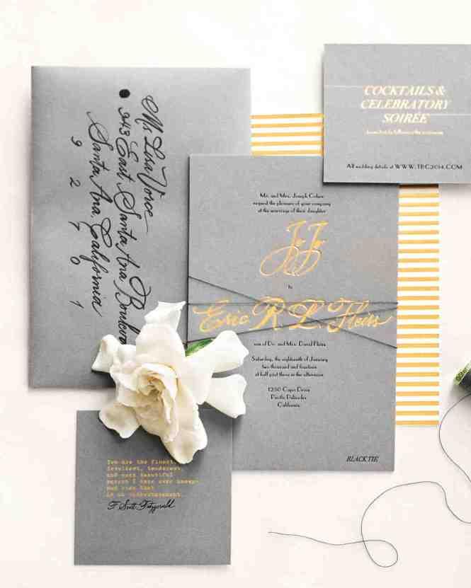 Rustic Winter Snow Wedding Invitation