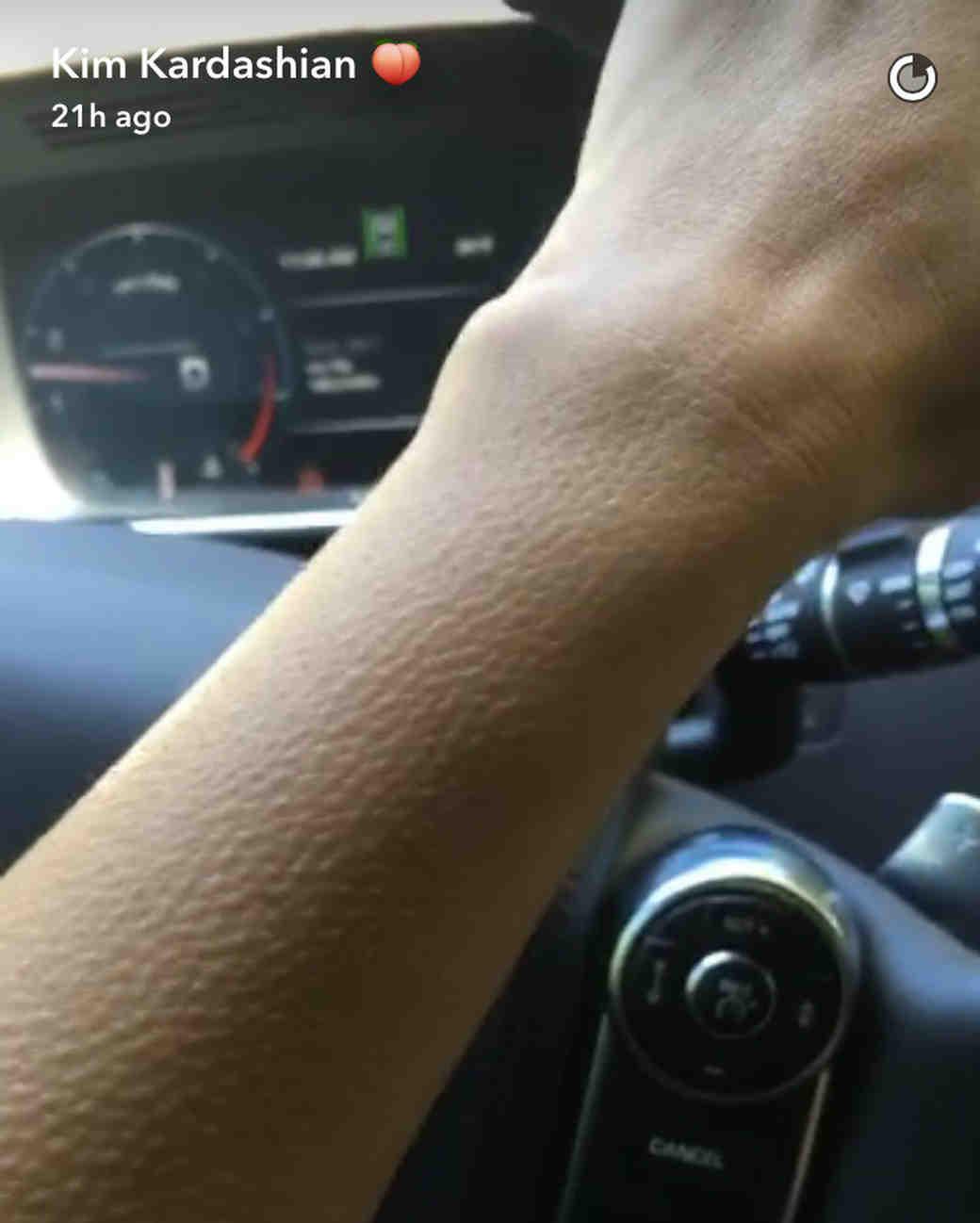 kim kardashian relationship with kanye goosebumps snapchat
