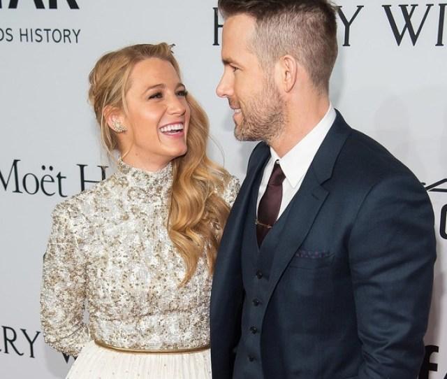 Blake Lively Ryan Reynolds Laughing  Jpg