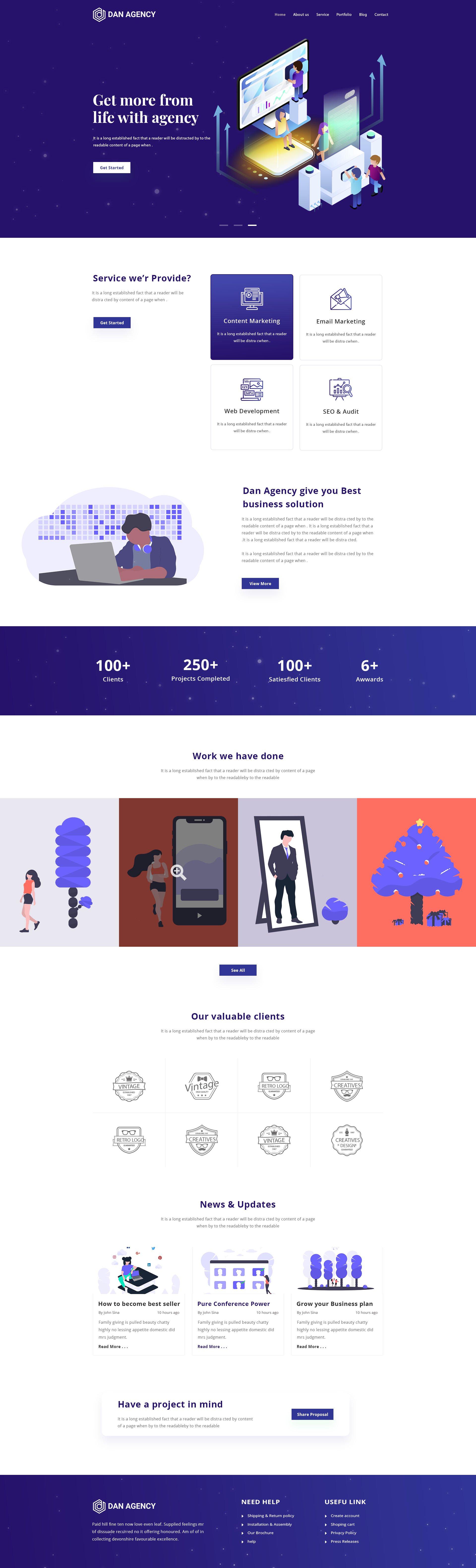 Digital trend view this free template ». Dan Agency Digital Marketing Web Template Free Download Uplabs
