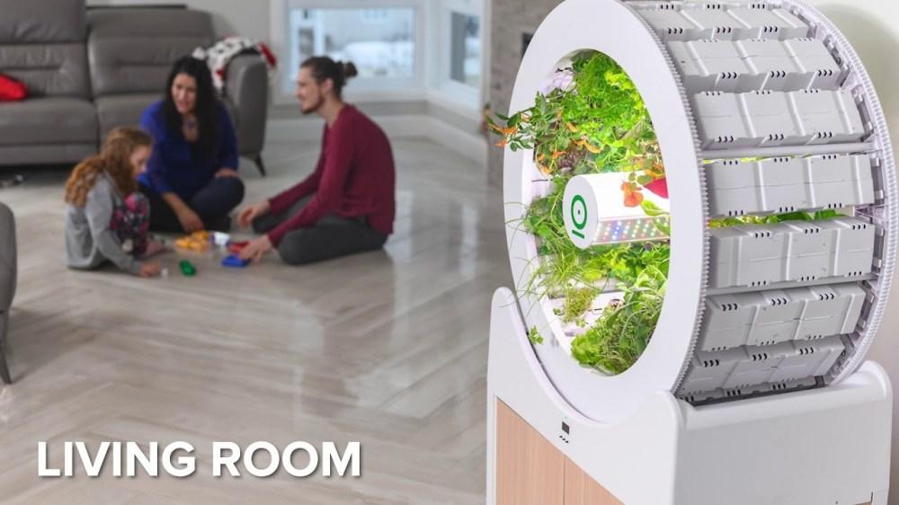 ローリング家庭菜園。室内で野菜を育てるドラム式ガーデニング装置「OGarden Smart」