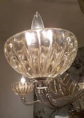 Applique steel cups glass of murano clear light wall. Foglia E Coppa Pezzi Di Ricambio O Sostituzioni Per Lampadari Di V Su Misshobby