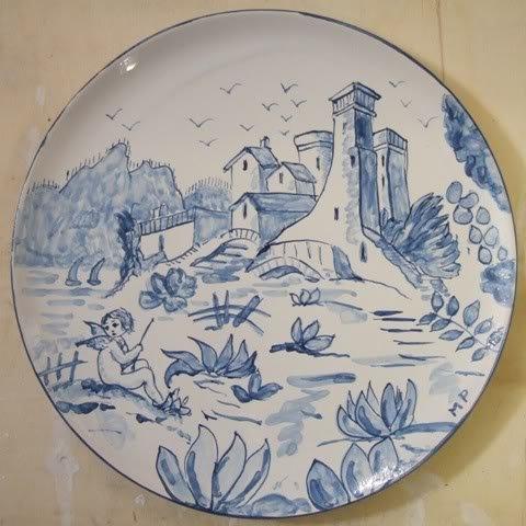Bauletto in legno decorato a decoupage. Piatto Ceramica Dipinto A Mano Per La Casa E Per Te Decorare Ca Su Misshobby