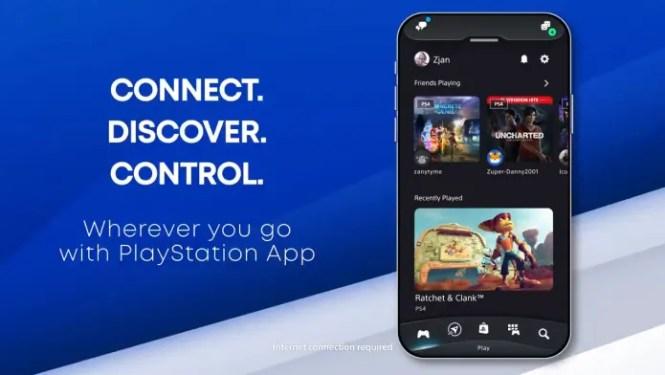 PS App update banner screenshot