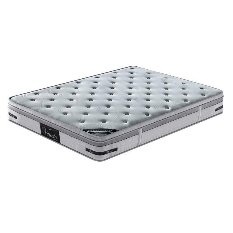 elite memory foam euro pillow top pocket spring mattress 27cm thick
