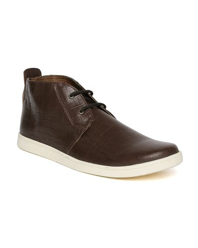Arden by Knotty Derby Men Dark Brown Textured Casual Shoes