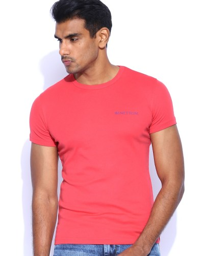 United Colors of Benetton Coral Red T-shirt