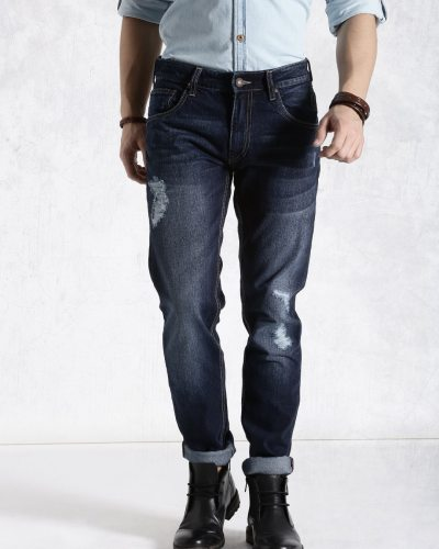 Roadster Navy Tapered Fit Jeans