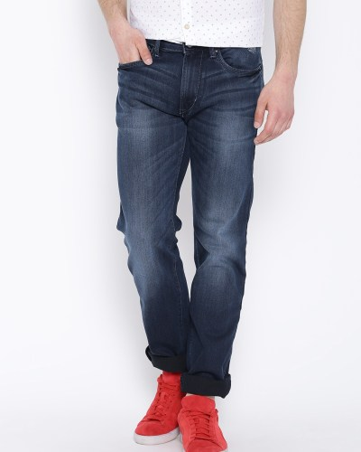 Flying Machine Navy Washed Prince Fit Jeans