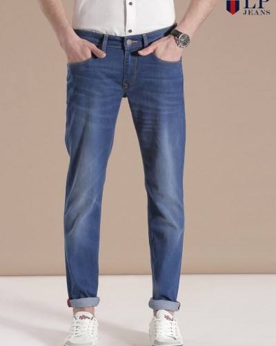 Louis Philippe Jeans Blue Matt Fit Jeans
