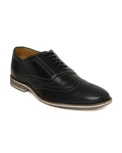 Allen Solly Men Black Leather Brogues