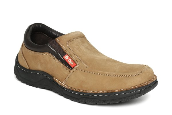 Lee Cooper Men Brown Solid Slip-Ons