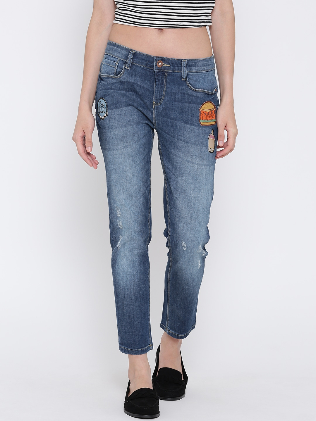 Faded Glory Stretch Jeans Elastic Waist
