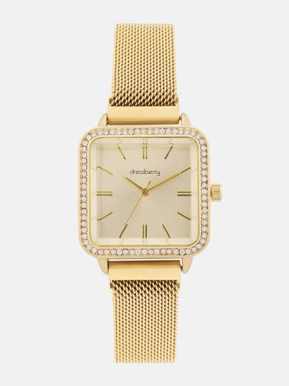 DressBerry Women Gold-Toned Analogue Watch MFB-PN-CHR-S1918