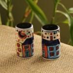 Buy Exclusivelane Multicoloured Handpainted Salt Pepper Shaker Set Kitchen Storage For Unisex 6592808 Myntra