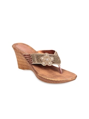 Do Bhai Women Copper-Toned Wedges