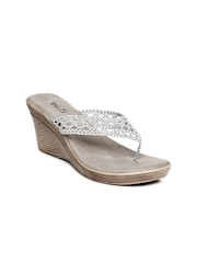 Inc 5 Women Silver Toned Wedges