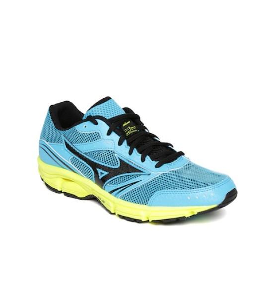 Mizuno Women Turquoise Blue Wave Impetus 3 Running Shoes