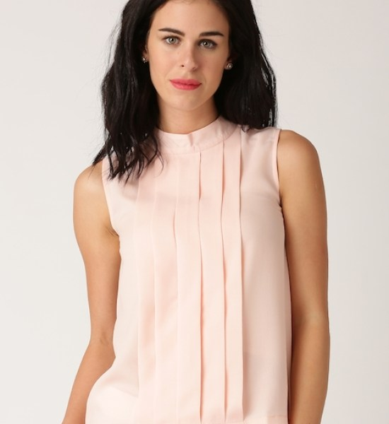 All About You from Deepika Padukone Peach-Coloured Pleated Top
