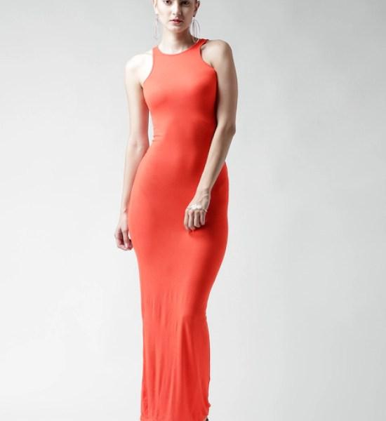 Boohoo Orange Maxi Dress