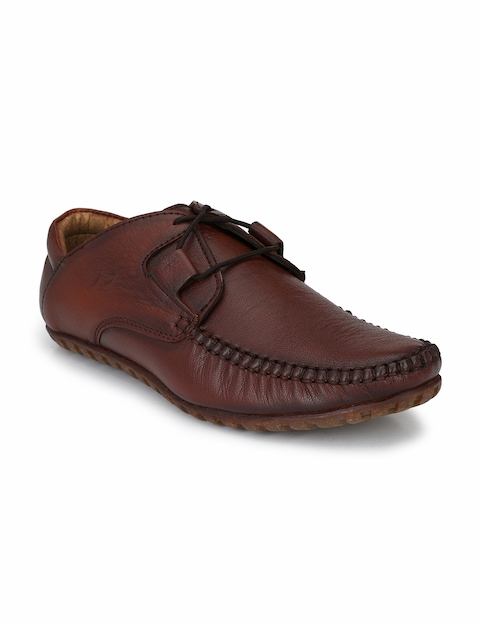 El Paso Men Brown Leather Loafers