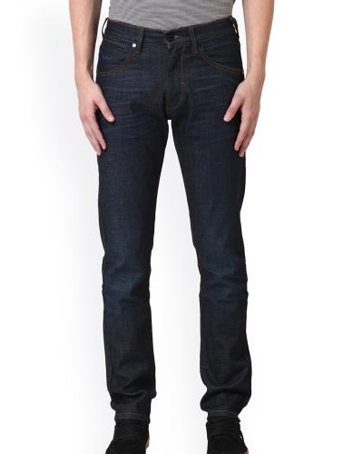 Web Jeans Italy Blue Lightly Washed Low-Rise Jeans