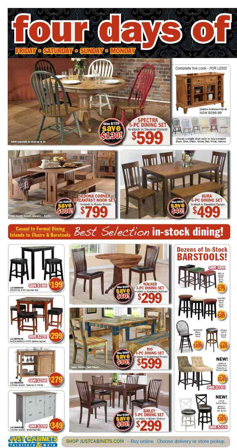 Just Cabinets Furniture Black Friday 2013 Ad Find The
