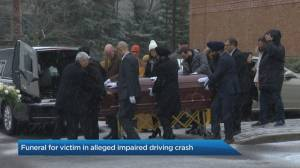 Funeral held for Centennial College student killed in alleged drunk driving crash (02:18)