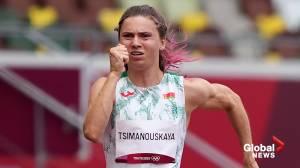 Tokyo Olympics: Sprinter Krystsina Tsimanouskaya seeks asylum in Poland amid standoff with Belarus (03:03)