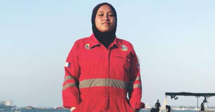 Image result for malaysia's first female underwater welder