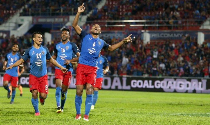 Jaringan Marcos Antonio ketika aksi bertemu Terengganu di saingan liga.